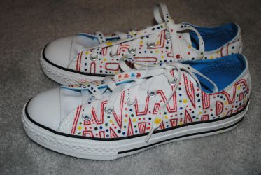 Pac-man Shoes 1 by groundedreamer