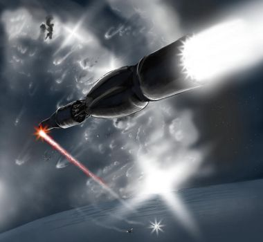 Space Combat Sketch by WaaaZeGoat