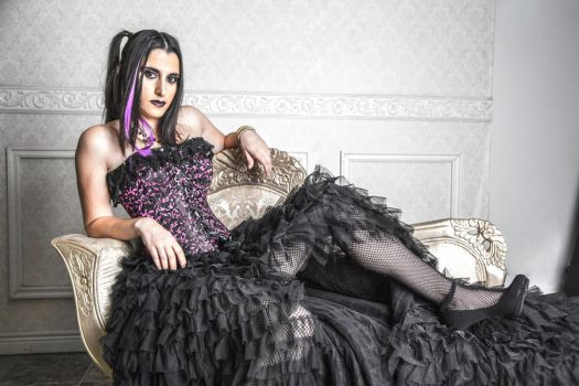 Gothic Queen Reclined by A-Glass-Brightly