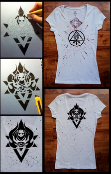 Handmade .. WoW LANDRO and Red King T-shirt by Wator