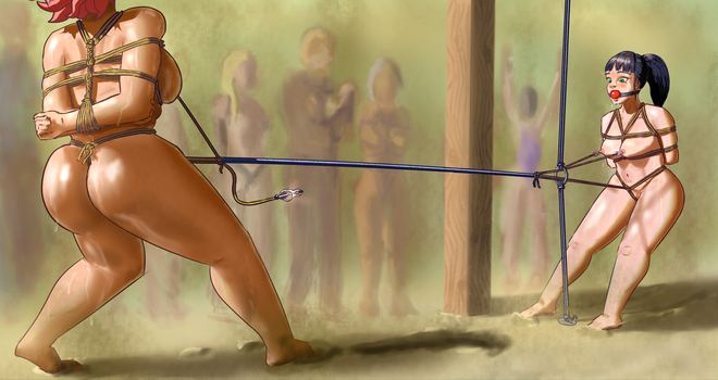 Bondage Camp games: Tug of War by TheSimmery