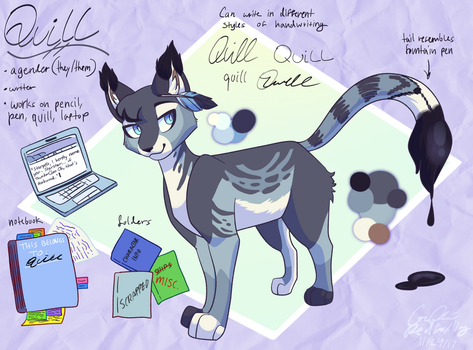 Quill (contest entry) by Redfoxling