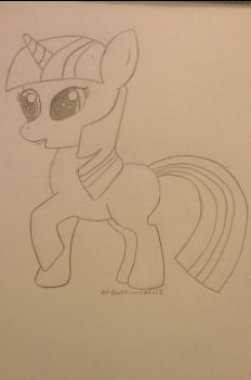 Filly Twilight Drawing by ReylPonies