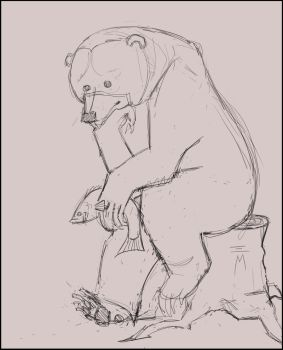 Thinking Bear by nellems