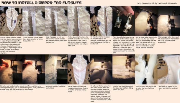 Fursuit Zipper Tutorial by LobitaWorks