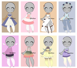 (OPEN) CHEAP OUTFIT ADOPTABLES! by YukuAdopts