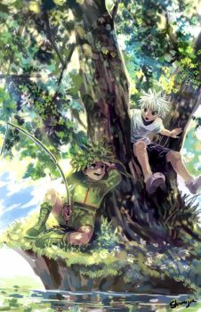 Hunter X Hunter - Fishing by Shumijin