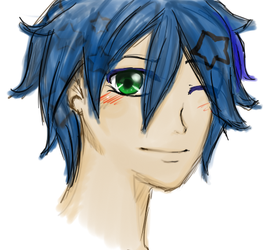 Blue Haired Girl by AyumiTheSmilingFox