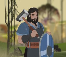 The Banner Saga: Off the Beaten Path - Blacksmith by EternalAnomaly