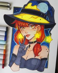 Inktober 2 - Witch's Hat by larienne