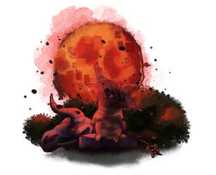 The Blood Moon Rises.. by TeaLeo