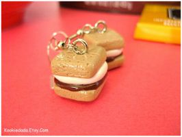Mini S'more Earrings I by sunnyxshine