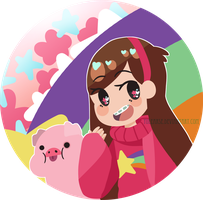 [Gravity Falls] Mabel! (and Waddles) by Yulearse