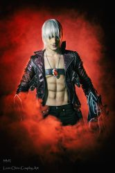 Dante - Devil May Cry 3 Cosplay with Beowulf -Leon by LeonChiroCosplayArt