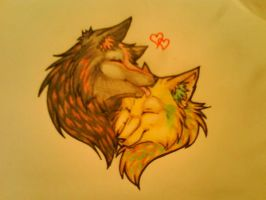 Wolf luv by Sugarcup91