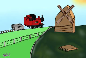 Redwood Village train and his little truck by frozenmeerkat