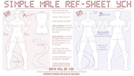 YCH - Simple ref MALE - OPEN by MATicDesignS