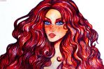May1-Red haired girl by LicamtaPictures