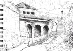 urban sketching 23.4.: Moenchsberg by light-serpent