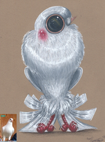 Pearl the Pigeon by Ducks-with-Crayons