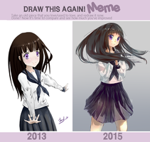 Draw this again! Meme - Eru Chitanda by Touko97