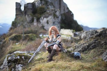 Aela the Huntress cosplay from Skyrim by LadySundae