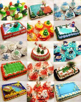 Christmas cake collection by Erisana