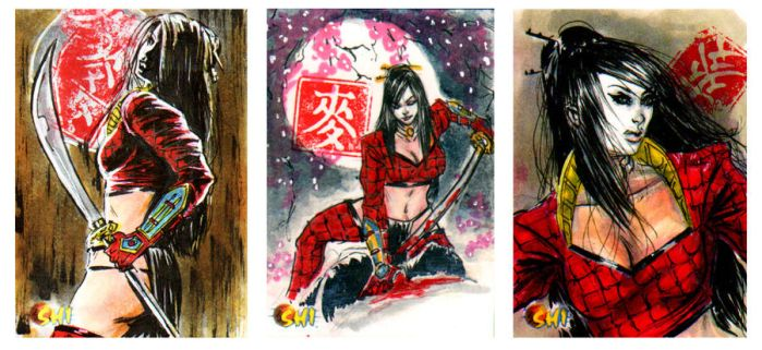 Shi sketch cards from 5Finity by brokenluk