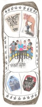 Tonight Alive Skate Deck - Kick Flip for a Cause by dth1971