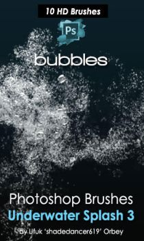 Underwater Bubbles Photoshop Brushes by shadedancer619