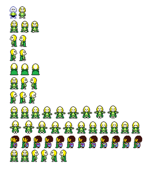Goat Flowey Sprites (With Cape) by FanFictionGamer
