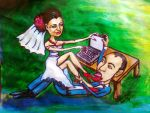 just married caricature by Kotwinka