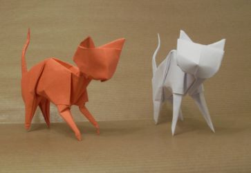 Origami Cats by Orestigami