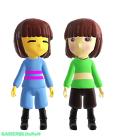SFM Frisk and Chara in MMD by GAMERBLOoReN