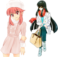 Kill la Fashion - Satsuki and Nonon by h0saki