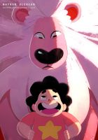 Steven and Lion by RaynerAlencar