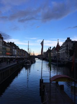 Nyhavn in the evening by MarshmallowBreeze