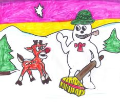 Frosty and Rudolph by SonicClone