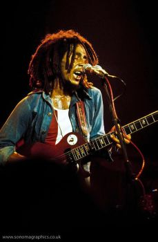 Bob Marley at The Lyceum 1975 by sonomaman