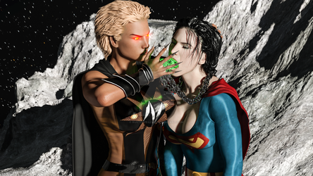 Superwoman vs Nuclear Woman - Eat This by rustedpeaces