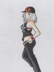 Pokemon: Roxie dressed as a skater girl by jhonbanhart