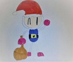 Santa Bomberman by SuperSmash6453