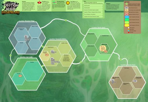Goldenblood Map by Dreamkeepers
