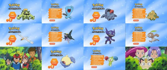 Pokemon Advanced Complete Collection DVD Menus by dakotaatokad