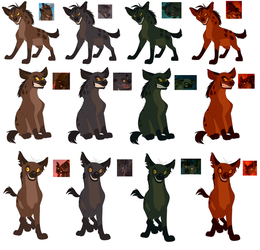 Hyena Color Ref by PeregrineTheGryphon
