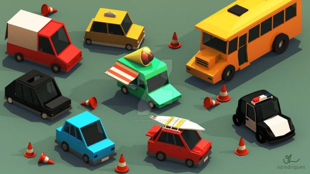 Collection 1 - Low poly Cars by ozrodrigues