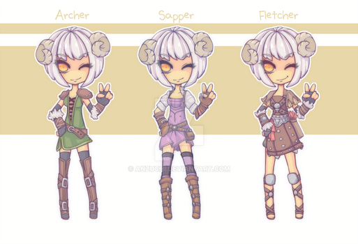 Tree of Savior - Archer Class Outfits