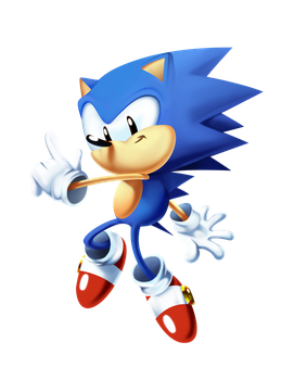 Toei Sonic Classicly Rendered_3 (Timelapse) by tripplejaz