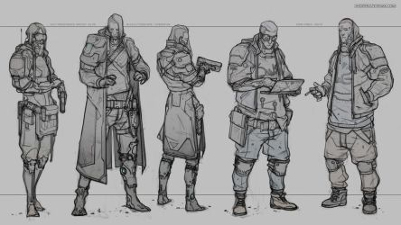 CYBERPUNK CHARACTERS by Caisne