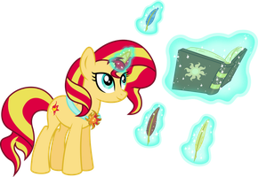 Magic Time For Sunset Shimmer by 8-Notes